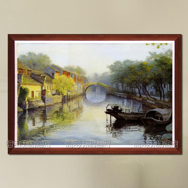 恒艺轩 实物拍照立体有框单幅风景手绘 yo388油画