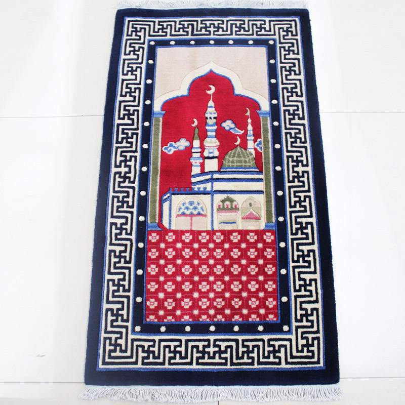 龍禧 粉紅色羊毛新古典/后現代風景長方形中國風機器織造 地毯