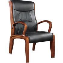 黑环保固定扶手实木脚皮艺橡木 扶手椅
