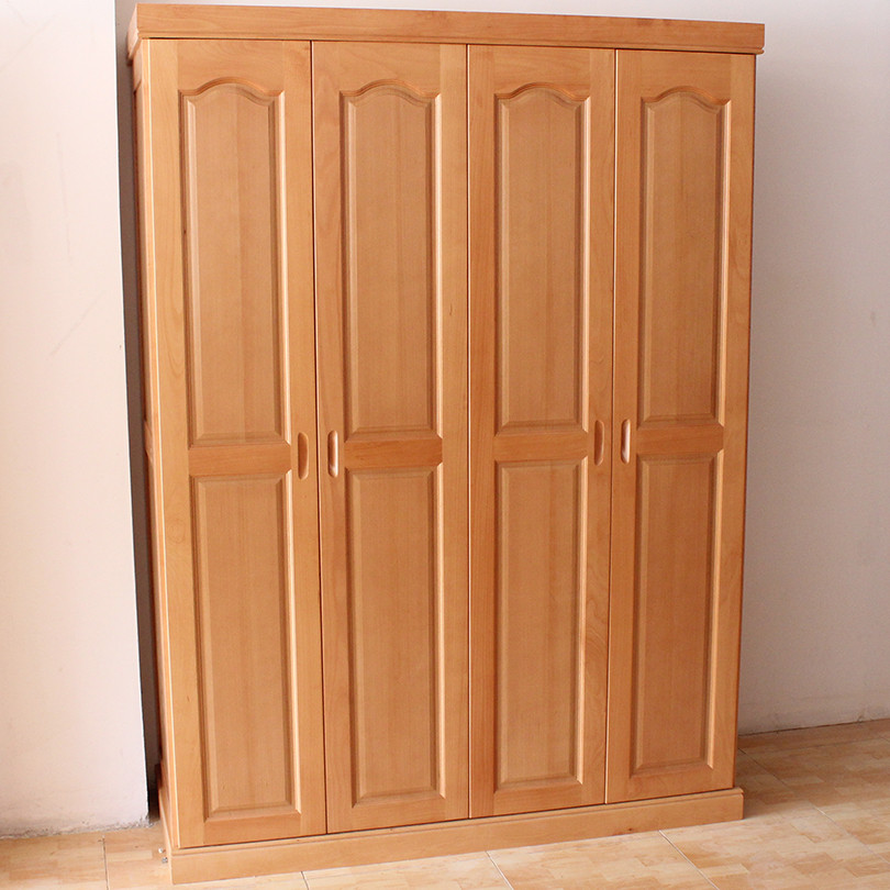四门成人_简美丽家 四门衣柜实木皮饰面榉木储藏平拉门成人现代