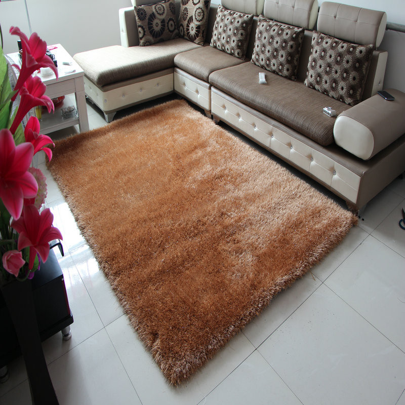 亚亨蚕丝欧式纯色长方形欧美手工织造地毯