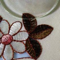 米黄底布(带暗格)植物花卉田园 桌旗