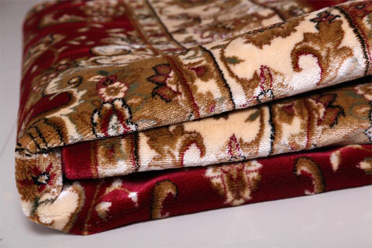 利多地毯 红色混纺新古典/后现代长方形机器织造 地毯