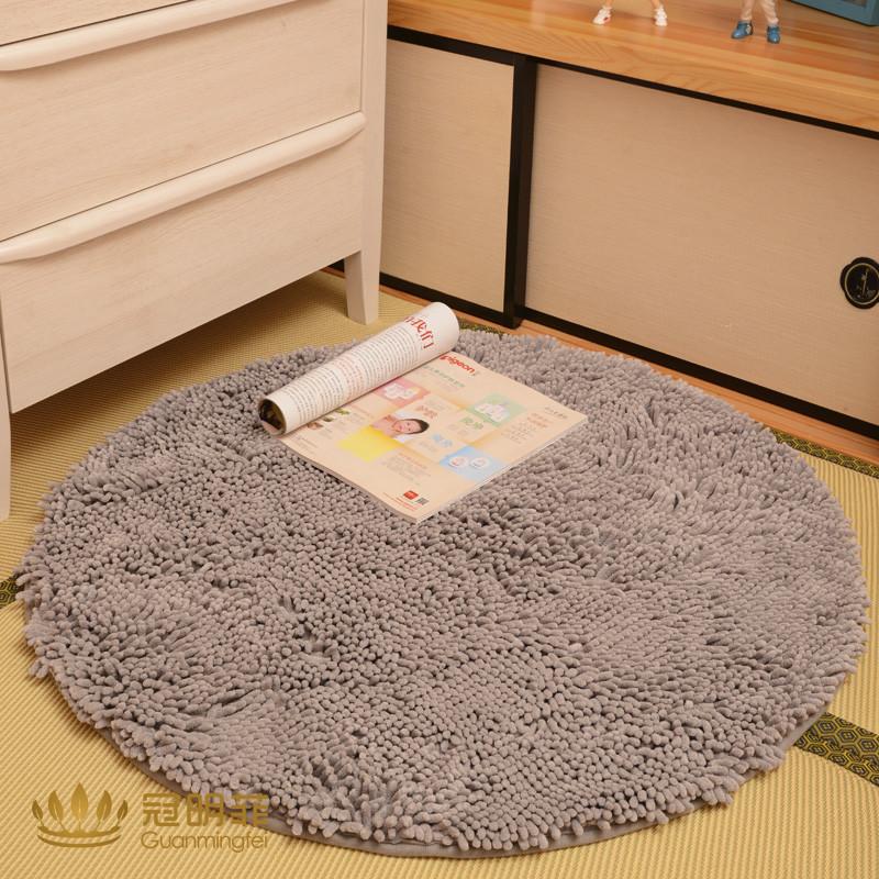 冠明菲 雪尼尔简约现代纯色圆形日韩机器织造 lns-006地毯