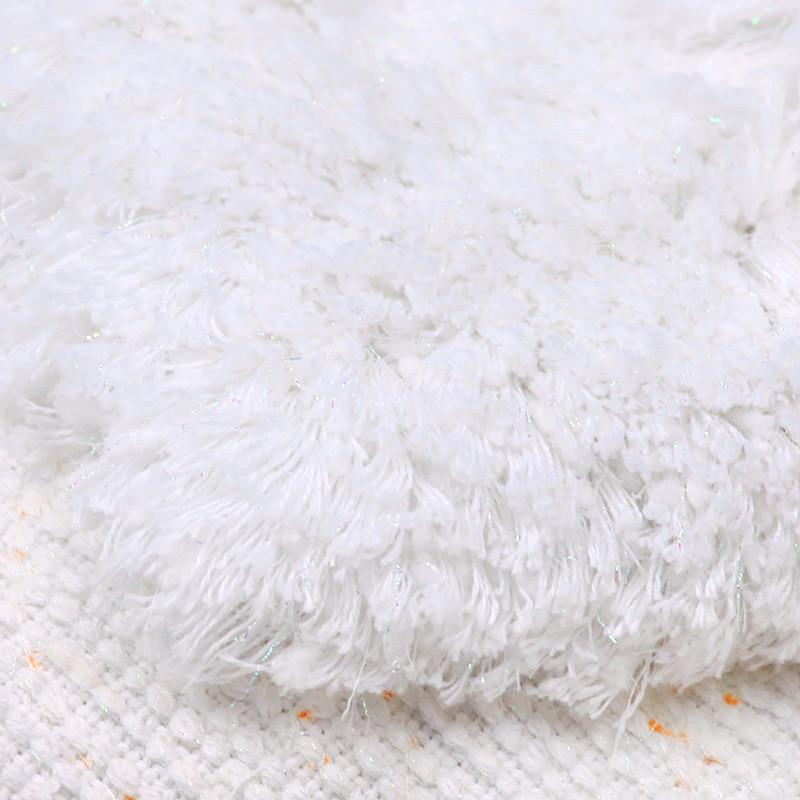 内野w白色be米色绒面卫浴叶子欧式机器织造 地垫