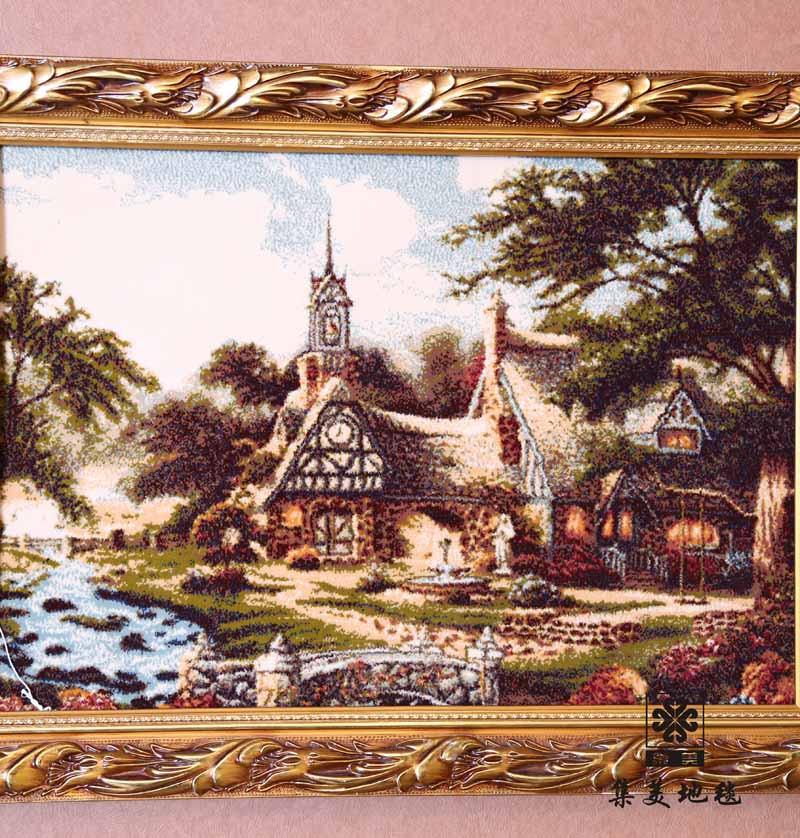 集美 艺术挂毯正方形风景欧式 挂毯