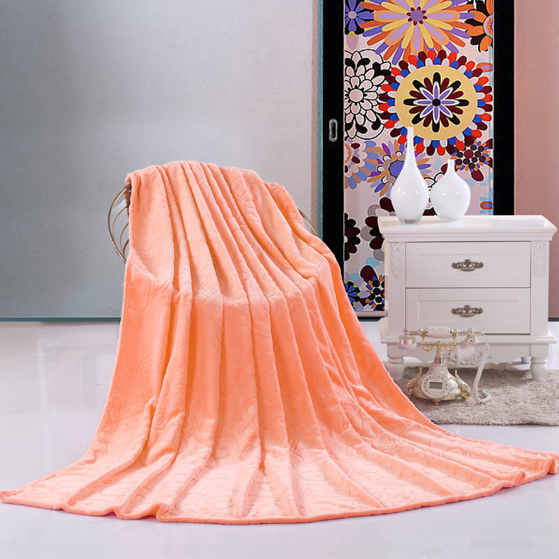 杉杉 珊瑚绒毯冬季纯色欧式 毛毯