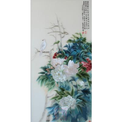 顾氏手工 素雅牡丹002苏绣价格,图片,品牌信息 齐家网产品库图片