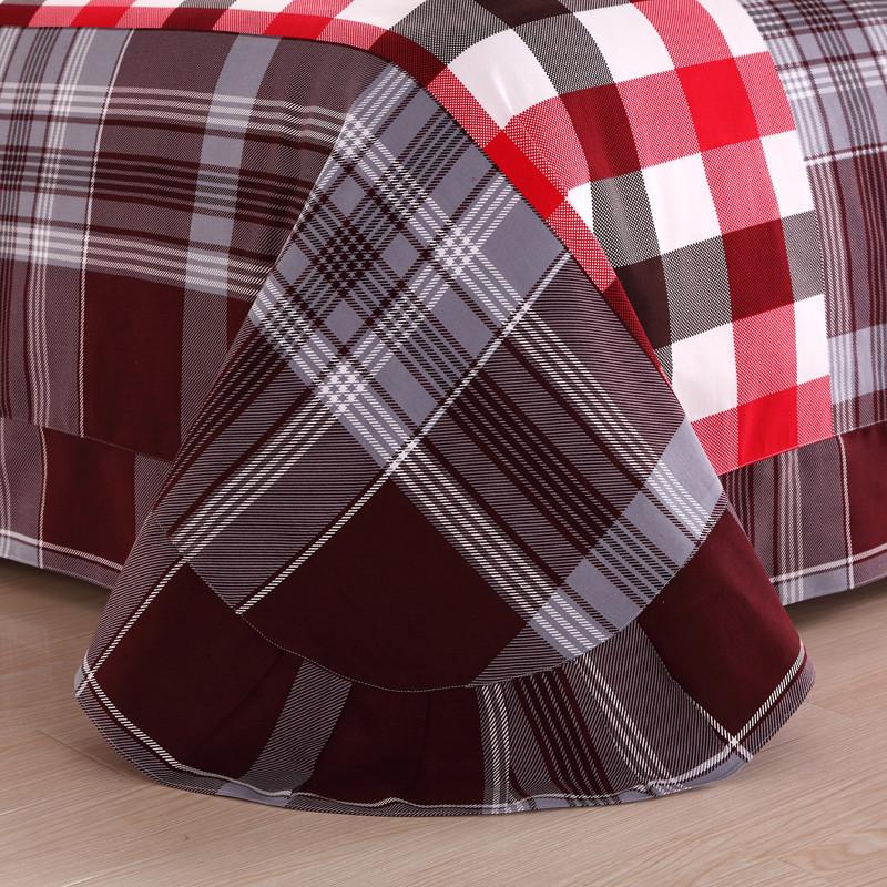 杉杉 活性印花田园斜纹条纹床单式简约风 床品件套四件套