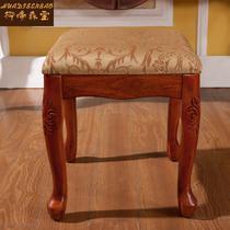 橡胶木成人美式乡村 梳妆凳