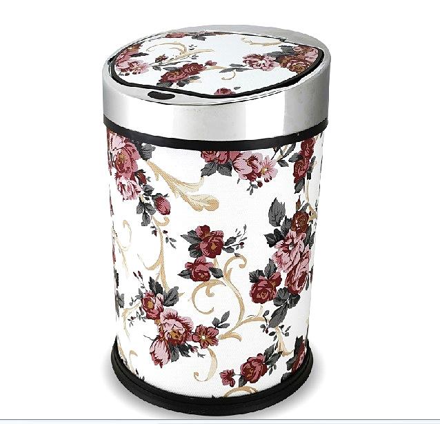 青韦 家庭使用皮革圆桶形 感应垃圾桶感应垃圾桶