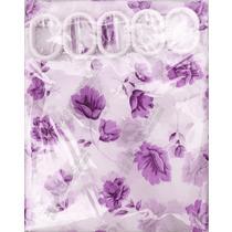 植物花卉现代中式 浴帘