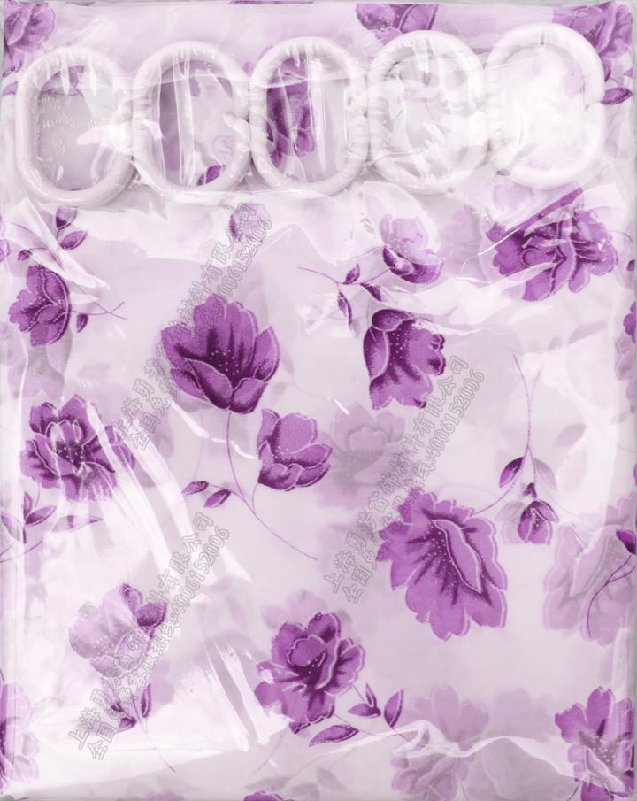 友芳 植物花卉现代中式 浴帘