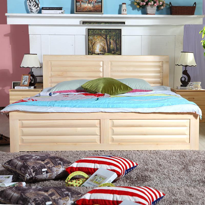 松木框架结构组装式箱体床简约现代