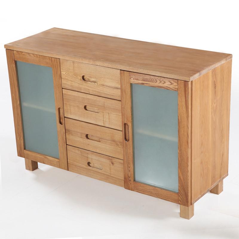 蜀能 框架结构水曲柳移动抽象图案简约现代 餐边柜