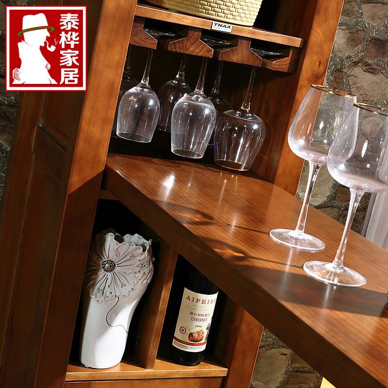 泰桦家居 吧台框架结构枫木多功能 酒柜