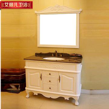 艾丽儿 橡木含带配套面盆大理石台面欧式 a312浴室柜