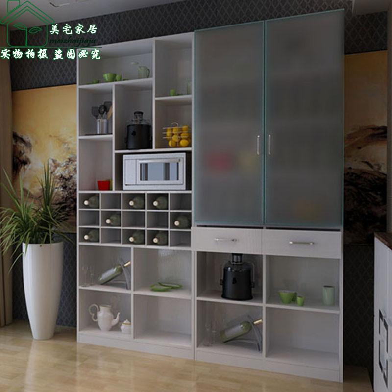 美宅 刨花板/三聚氰胺板框架结构多功能艺术简约现代 餐边柜