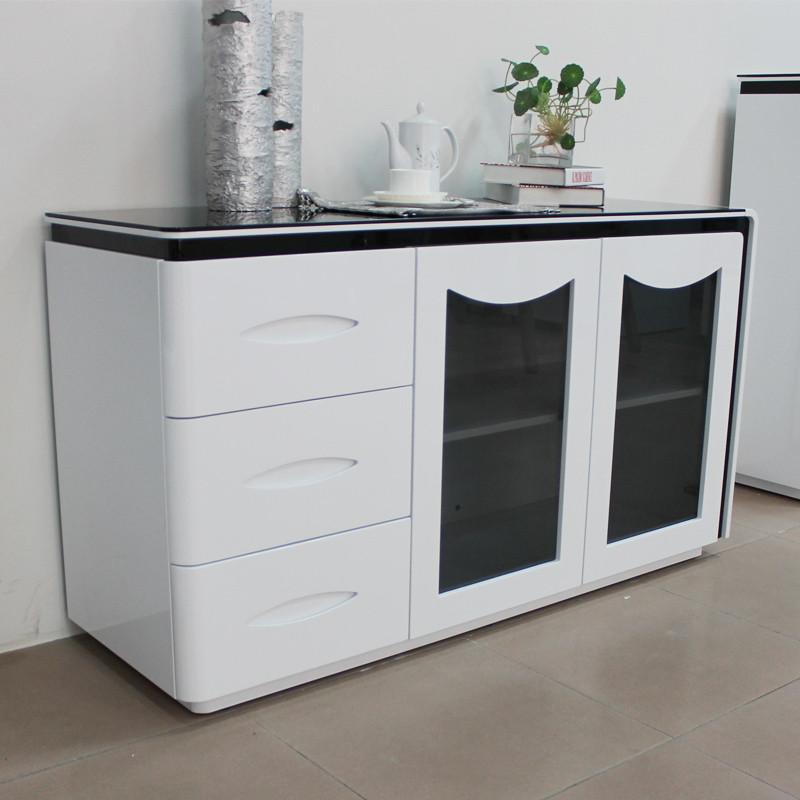 潘潘家具 木玻璃框架结构储藏简约现代 835餐边柜