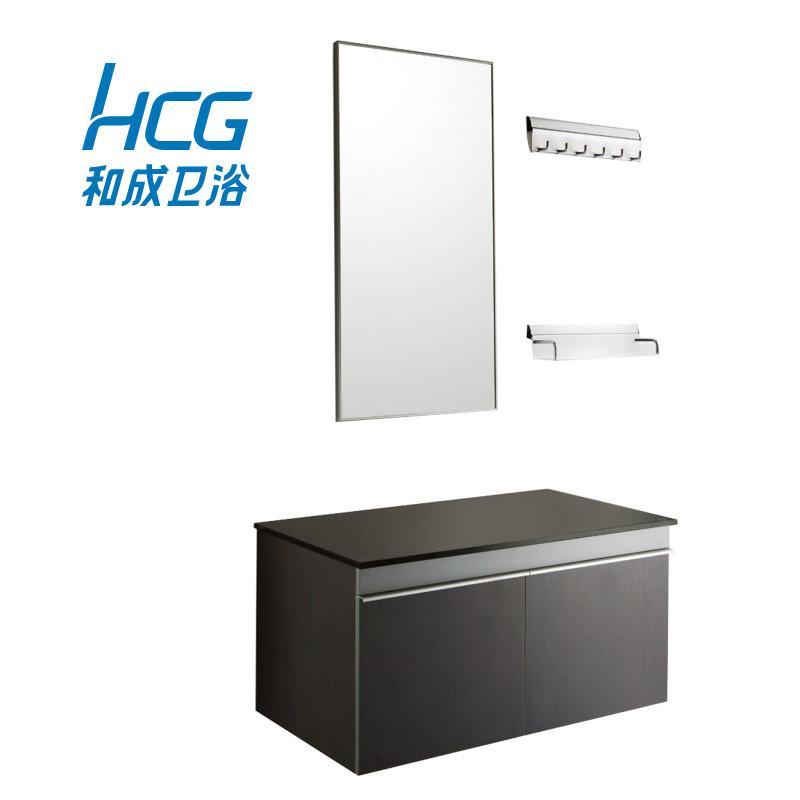 和成 玻璃台面E1级简约现代 浴室柜