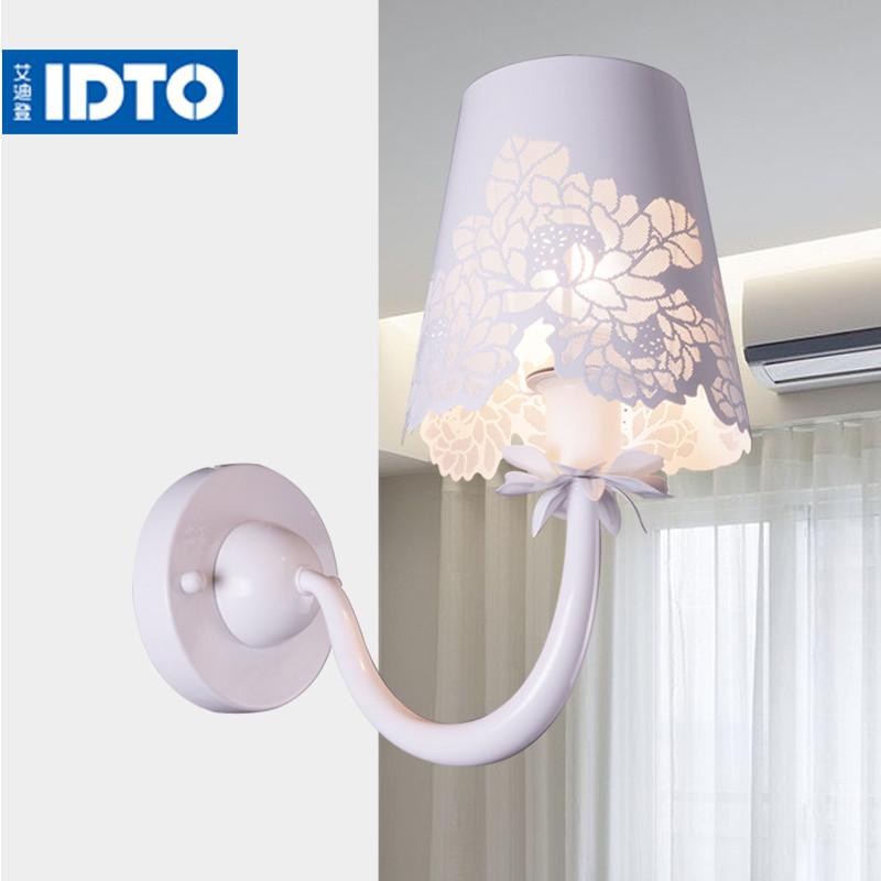 艾迪登 彩蝶单头壁灯不锈钢铁欧式镂空雕花白炽灯节能