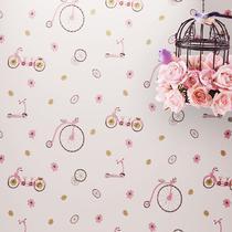 浮雕有图案卧室婚房儿童房 墙纸