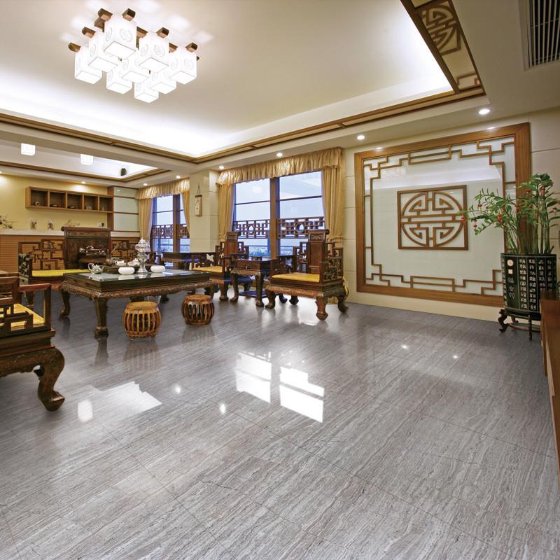 大树 浅灰色大理石纹仿实木室内地砖现代中式 瓷砖图片