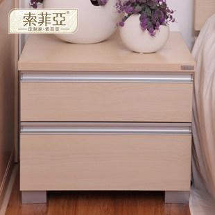 索菲亚 密度板/纤维板箱框结构储藏成人欧式 床头柜