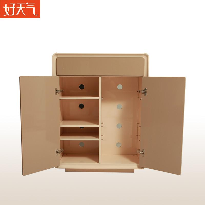万怡家具 人造板密度板/纤维板框架结构储藏翻开门艺术简约现代 鞋柜