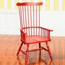 暗香红框架结构楸木储藏成人地中海 靠背椅