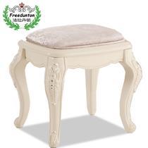 面料橡胶木成人欧式 梳妆凳