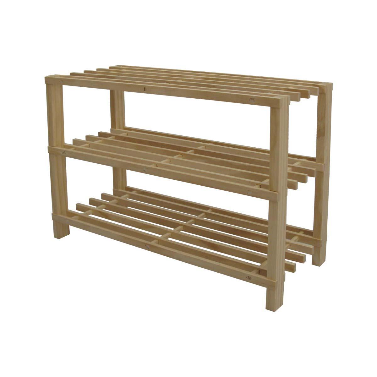宜哉 木质工艺支架结构松木拆装简约现代 xr1.3鞋架