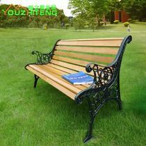 实木支架结构多功能抽象图案田园 YZT-G013公园椅