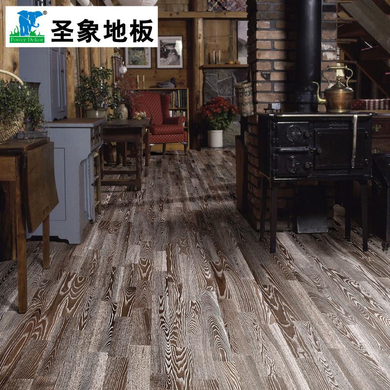 圣象 水曲柳平口a类实木复合地板 地板