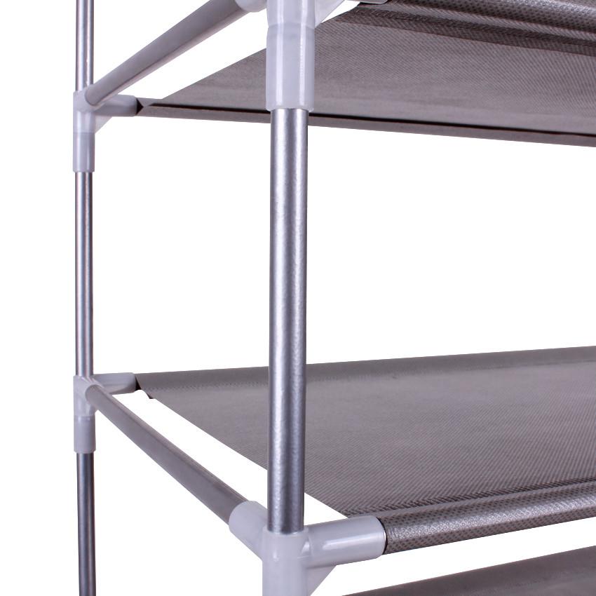 亿银 银灰色切割钢金属工艺支架结构拆装简约现代 YY-O1A-XJ-D9鞋架