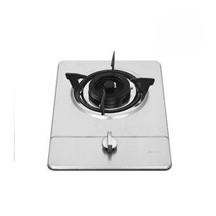 美的 银色热电天然气液化气脉冲电子点火全进风嵌入式不锈钢 燃气灶