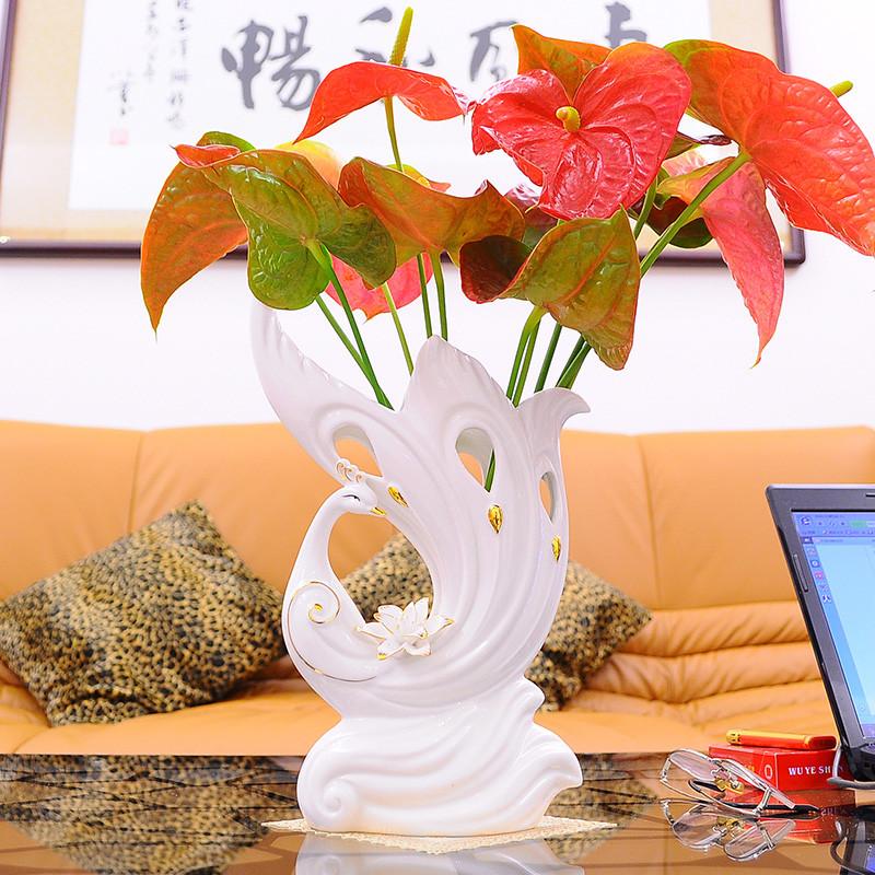 瓷元素 贴花小贴花大陶瓷动物桌面摆件镇宅简约现代 摆件