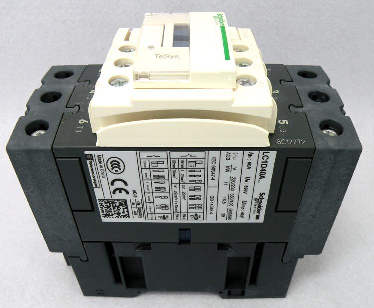 施耐德 一开一闭 LC1D40AQ7C继电器