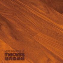 巧克力色甘巴豆单锁口A类实木复合地板 地板