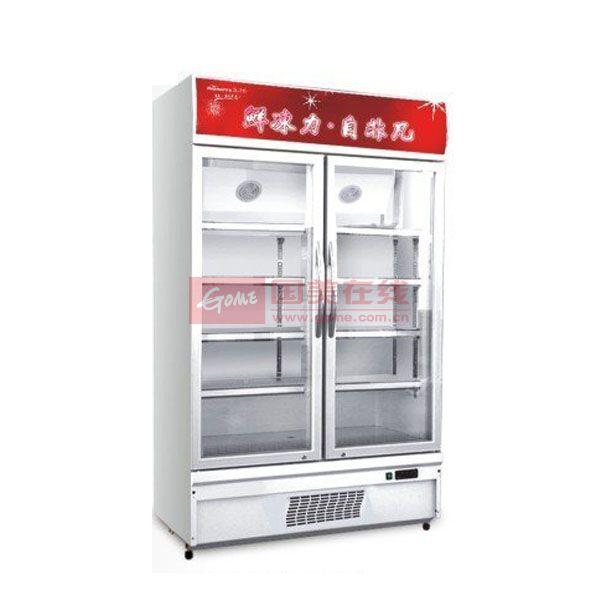 华美 白色780L机械式定频台冷藏无 冷柜