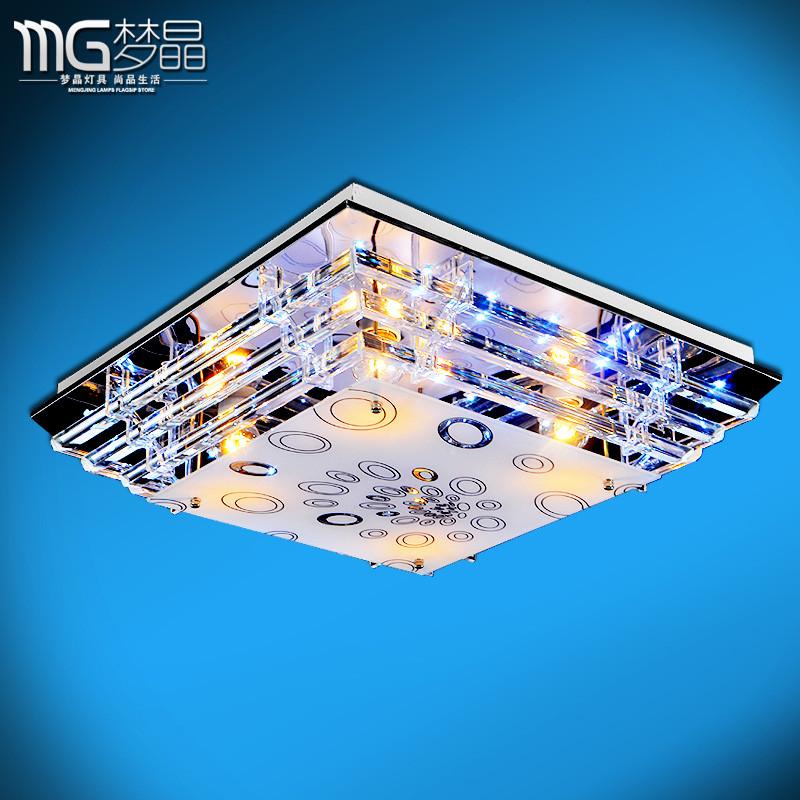 梦晶 玻璃不锈钢简约现代镂空雕花正方形白炽灯节能灯