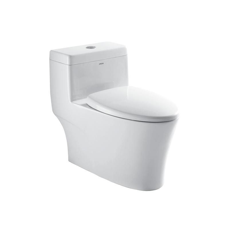 箭牌 白色ABS工程塑料喷射虹吸式地排水连体式 AB1286马桶