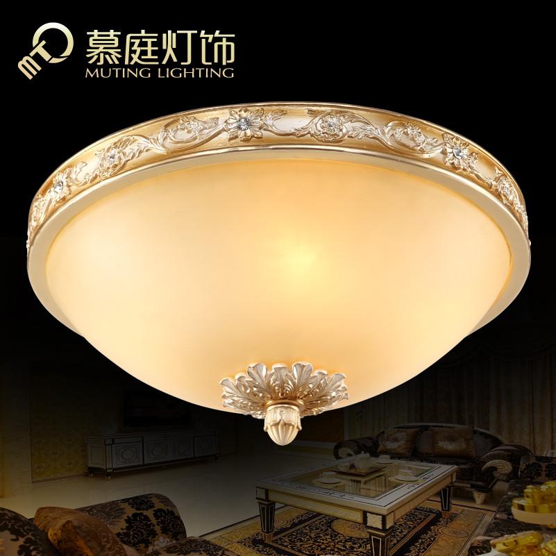 慕庭 玻璃树脂欧式镂空雕花圆形白炽灯节能灯led 吸顶
