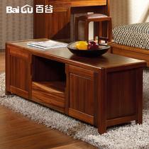 高端柚木电视柜地柜箱框结构储藏抽象图案现代中式 地柜