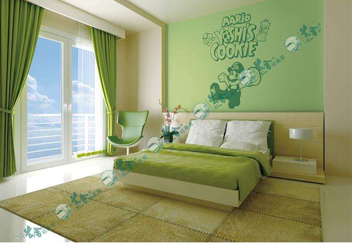 兰舍硅藻泥儿童房卧室背景墙儿童房硅藻泥背景墙壁纸图案100抵500