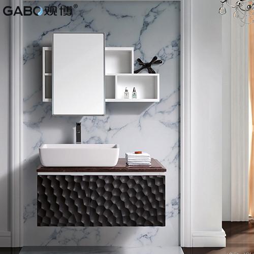 观博 大理石台面简约现代 浴室柜