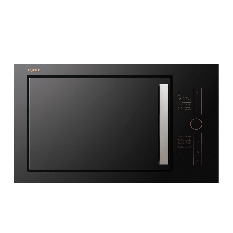 方太 黑色W25800K-C2GE微波炉按门式镜面转盘式全国联保电脑式 微波炉