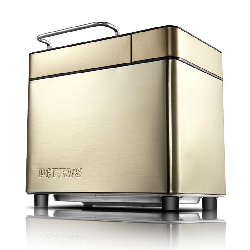 柏翠 香槟金单搅拌叶片金属电热管加热电脑式 面包机