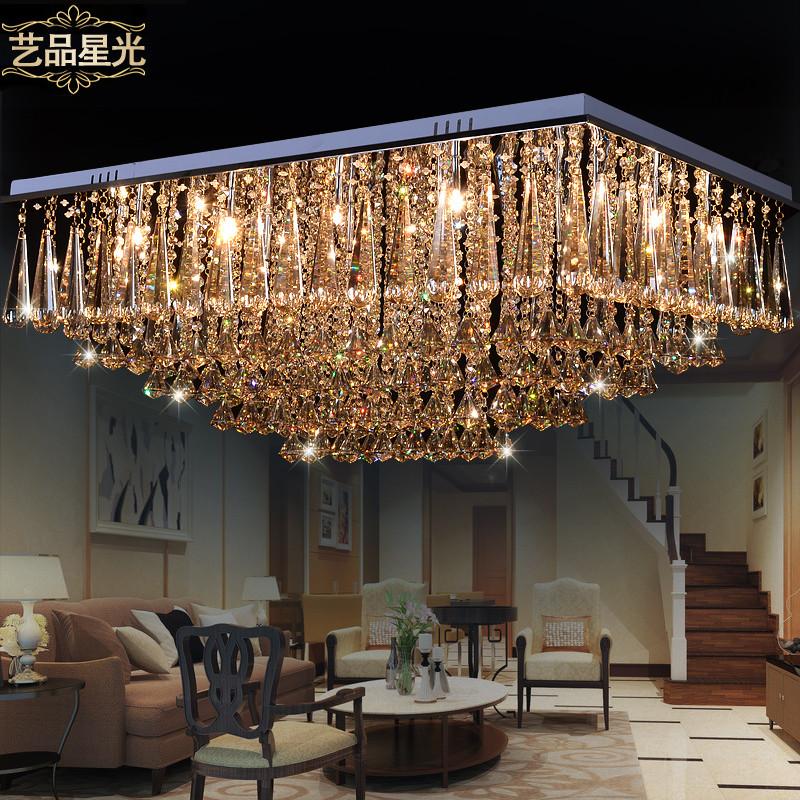 艺品星光 简约现代长方形白炽灯LED 吸顶灯