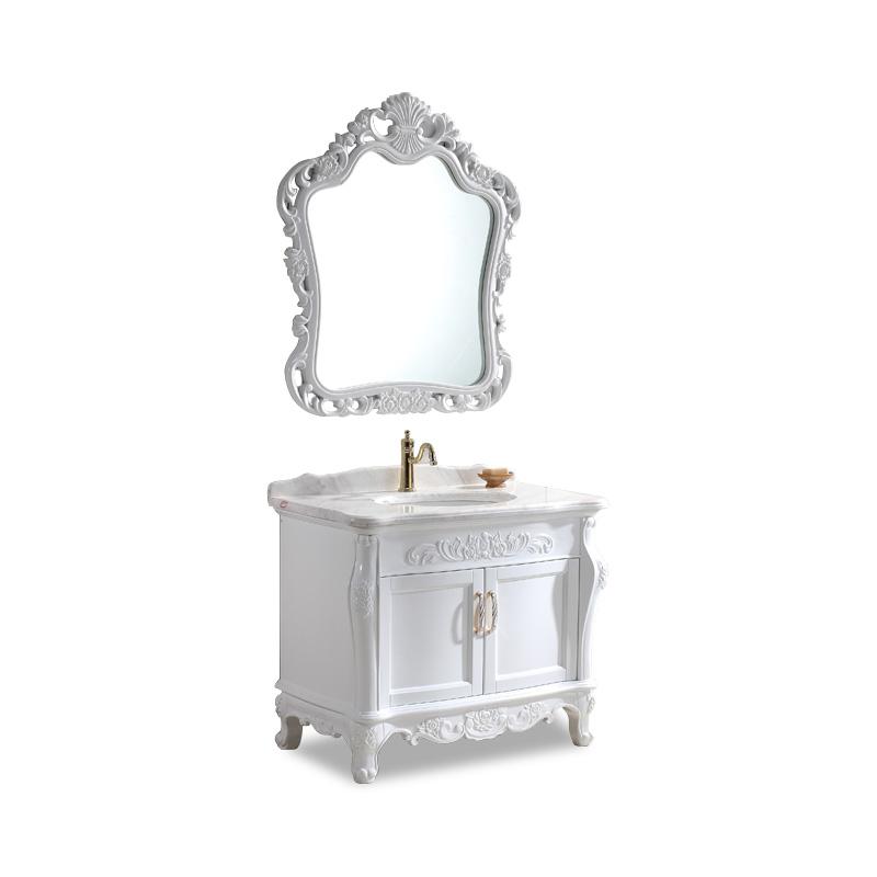 纯白色欧式浴室柜
